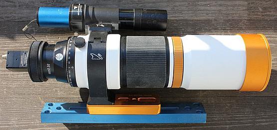 Ximea XiC connected to RedCat 51 refractor telescope