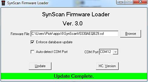 Po aktualizacji firmware otrzymujemy najnowsze katalogi obiektów jak i nowe opcje do ustawiania montażu