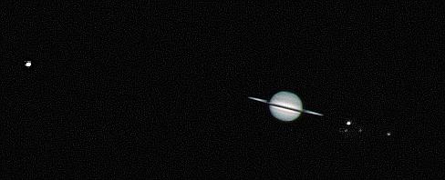 Saturn z zamkniętymi pierścieniami
