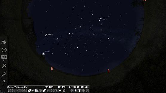 Interfejs programu Stellarium