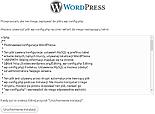 Instalator prosi o stworzenie wp-config.php