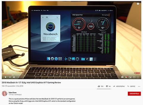 2018 Macbook Air has way faster NVMe storage