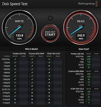 USB3 connected Intel 128GB SSD for quick retest