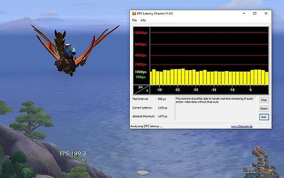 Latency check to see if there are no driver conflicts - all looks good here