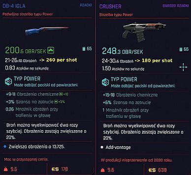 Shotguns comparison