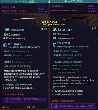 Sovereign stats - base and after firing
