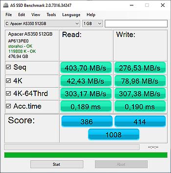SATA SSD performance