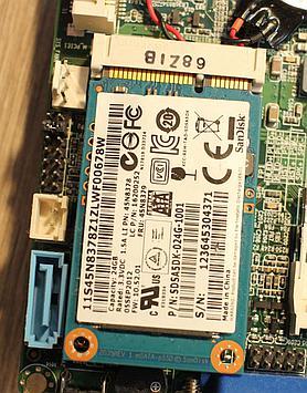 Older laptops may have a mSATA slot