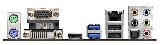 Tylny panel ASRock J5005-ITX