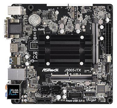 Widok z góry ASRock J5005-ITX
