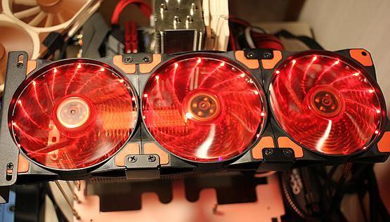 Overhang fancard LED