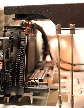 Overhang fancard uses PCI slots mounting points to place fans above the graphics card