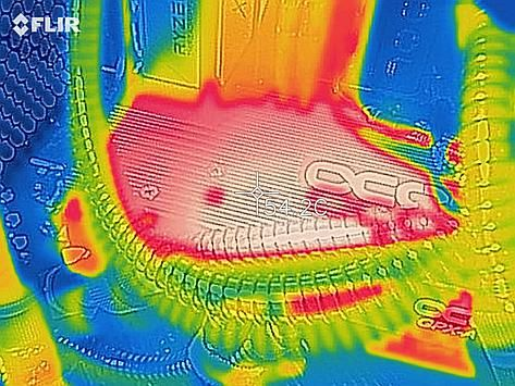 Thermal image of the GPU during stress test