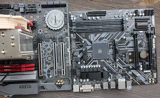 Even though mATX is supported by the case - longer mATX boards are not. Threadripper system will not fit in.