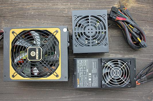 Enermax ATX, BeQuiet TFX and SFX power supplies