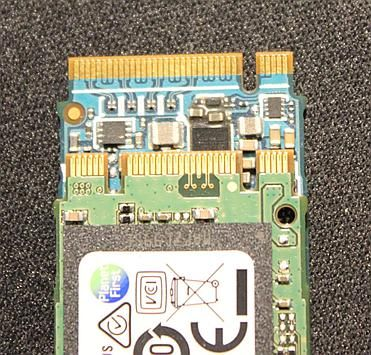 B+M-key SATA SSD on top of M-key NVMe SSD
