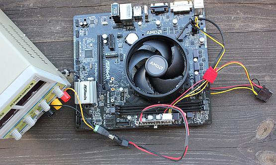Asrock AB350M-HDV, PicoPSU and lab power supply