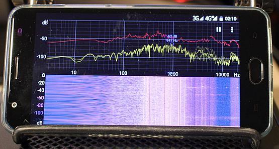 Fan noise frequency graph