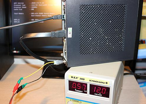 Measuring what DC power the PC takes