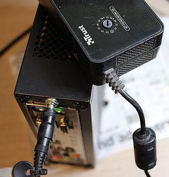 12V power brick can then be used to power the PC