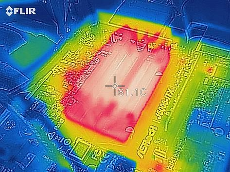 Thermal image of CPU under load