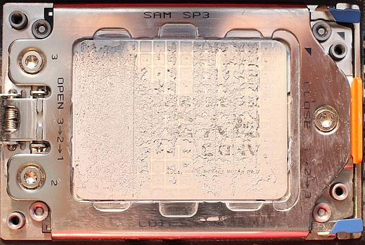 Threadripper IHS after removing cooler with stock paste
