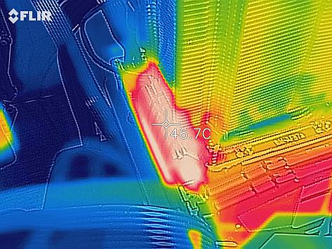 Thermal image of the power distribution section