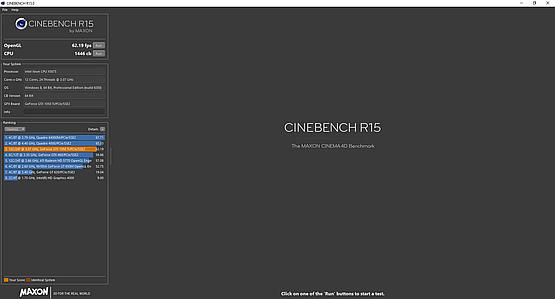 Cinebench R15 - dwa procesory