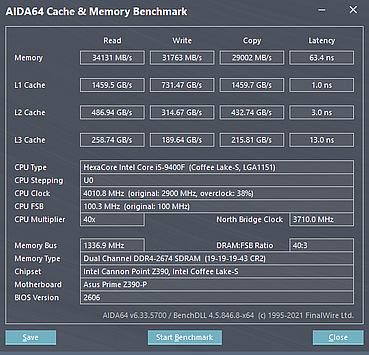 2666CL20 on Z390 running at 19-19-19-43