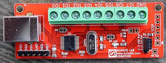 8 pin USB GPIO Board with terminal block connector