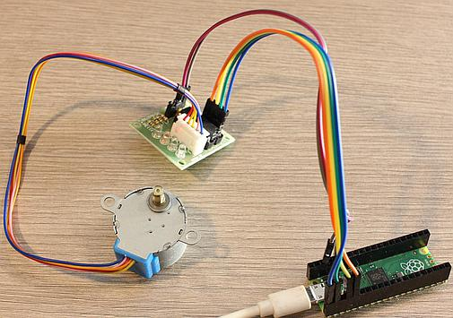Stepper motor connected to Pi Pico