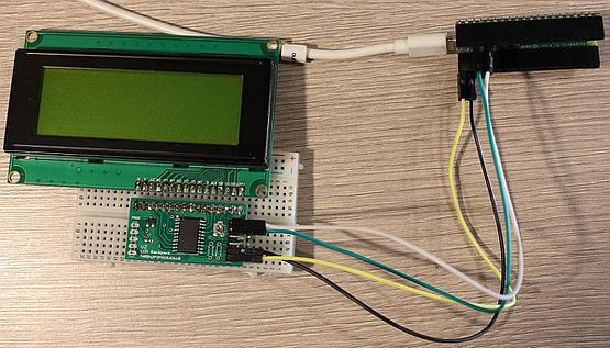 Serial LCD adapter sadly didn't worked with Pi Pico