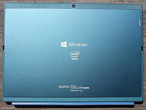 Intel logo on the back