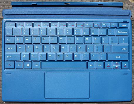 Detachable hard plastic keyboard