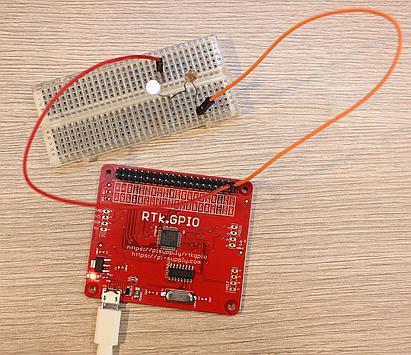 Blink a LED on RTk.GPIO