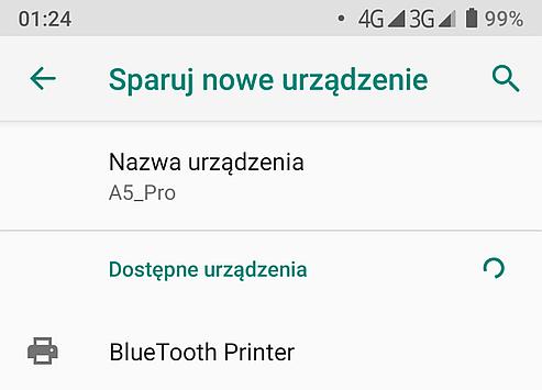Bluetooth printer pairing on a phone