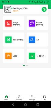 PeriPage app main screen