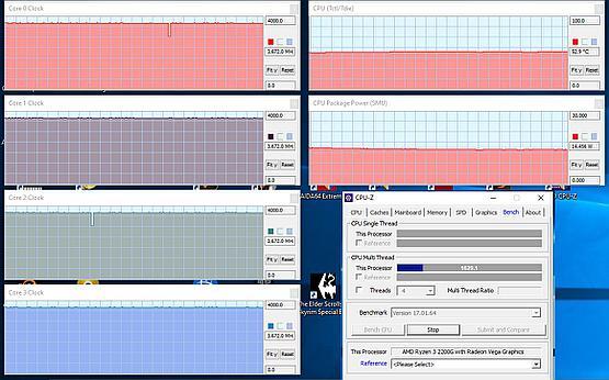 Ryzen 2200G plus Spartan 4 CPU stress test