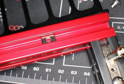 Square nut goes into the slot making mounting L-brackets in desired spots easy