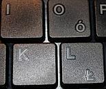 Płaskie klawisze klawiatury