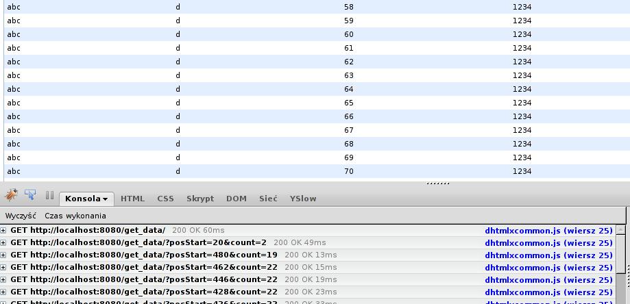 RkBlog :: Using DHTMLXgrid in a Django application