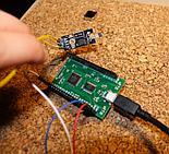 Moduł z Hallotronem dla Arduino podłączony do pyMCU