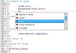 Komodo Edit/IDE7 edycja CSS