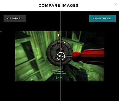 Shortpixel optimizes JPEG by adding stronger compression which is quite visible in this case