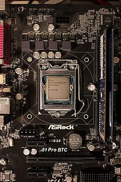 Pentium G3260 on an mining motherboard