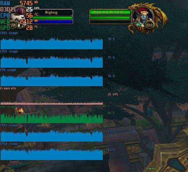 RkBlog :: Benchmarking and analyzing World of Warcraft performance